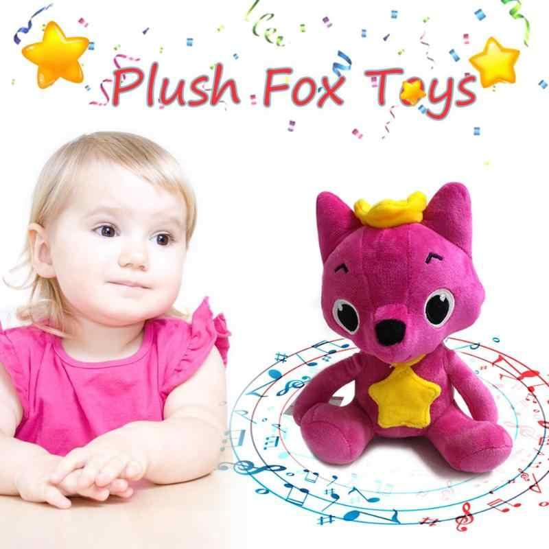 Мультфильм Лиса плюшевые детские игрушки милые Поющие мягкие куклы с музыкой детские плюшевые игрушки куклы для подарка детская девочка