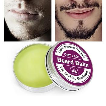 Omylady Natural Beard Balm Beard Conditioner Professional Beard Growth Organic Mustache Wax For Beard Smooth Styling 1
