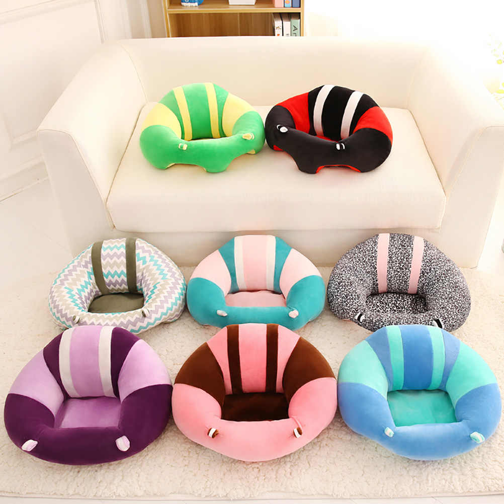Sofá de bebé infantil lindo asiento de apoyo para bebé suave aprendizaje para sentarse silla infantil mantener sentado postura alimentación de algodón silla
