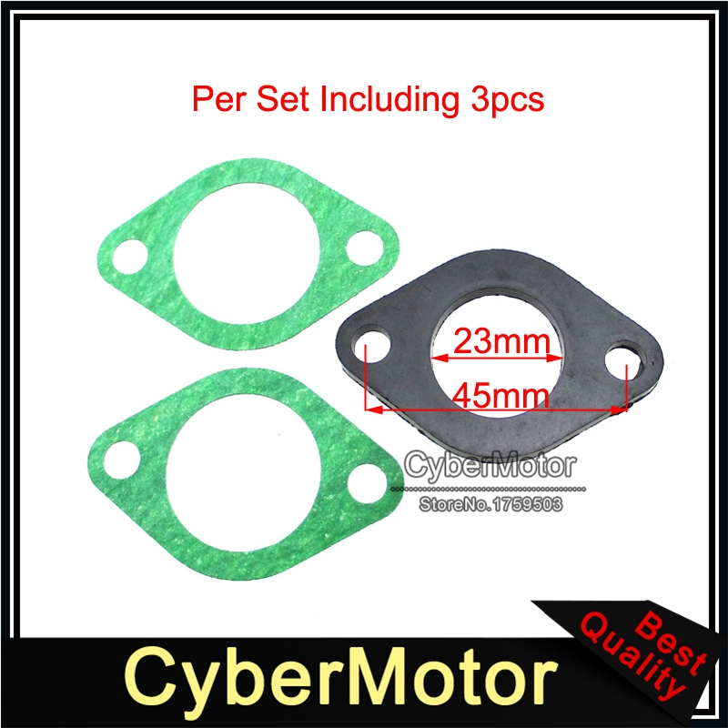Motorcycle Parts Intake Manifold Gasket For Chinese GY6 125cc 150cc