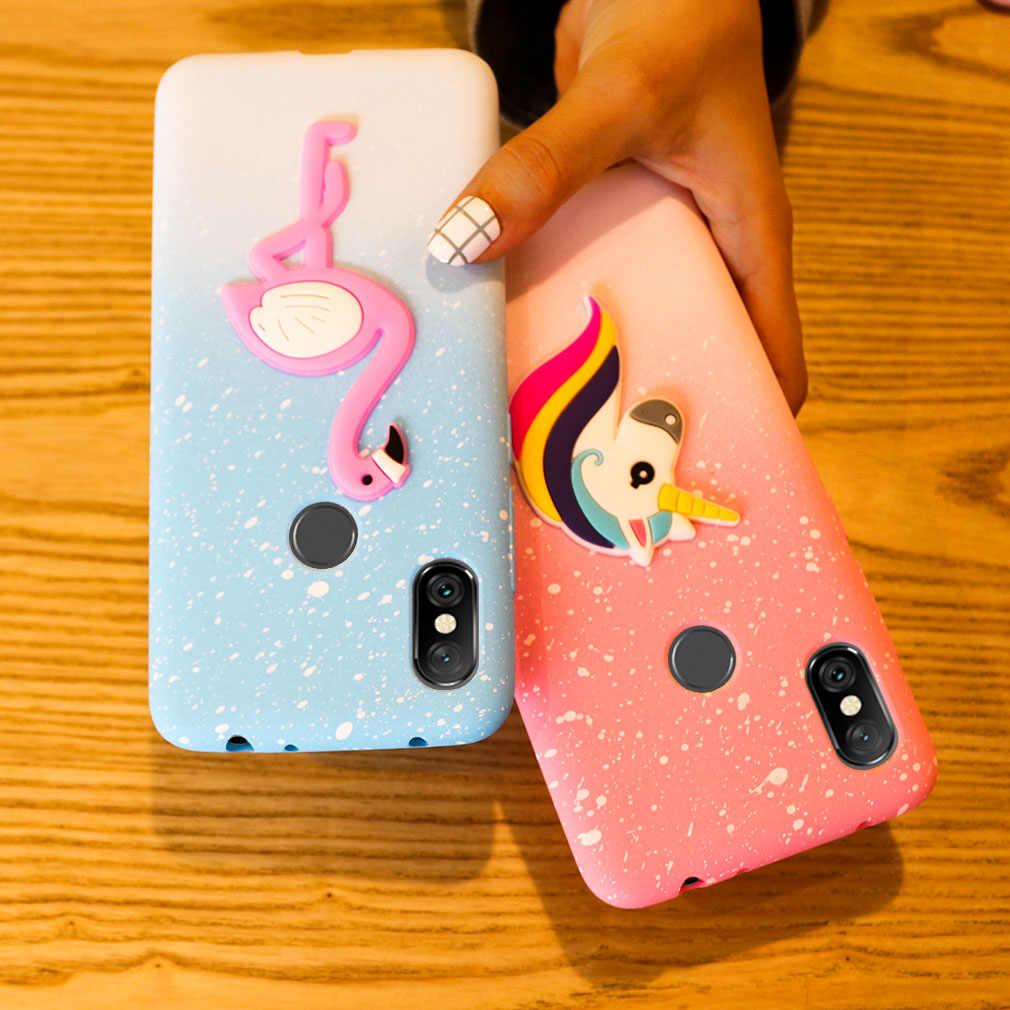 best sneakers 3551a 5627e Case For Xiaomi Redmi Note 6 Pro TPU Soft Cute 3D Silicone Back Cover Girls  Coque Snowflake Cartoon For Xiaomi Redmi Note 6 Pro