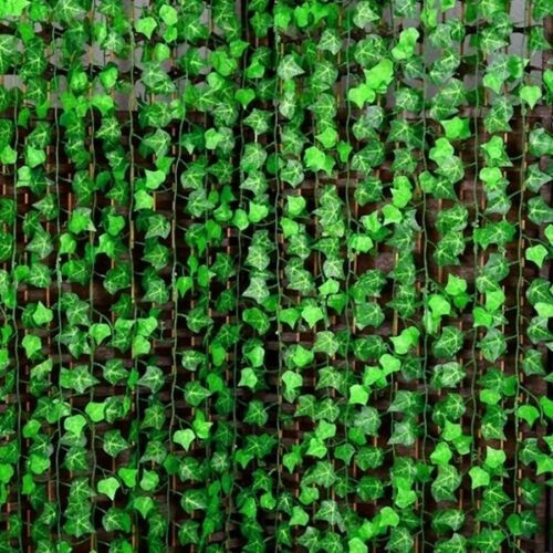 2.4m Artificial Green Leaf Vine Ivy Flower Leaf Garland Silk Rose Home Wedding Garden Decoration 1pc
