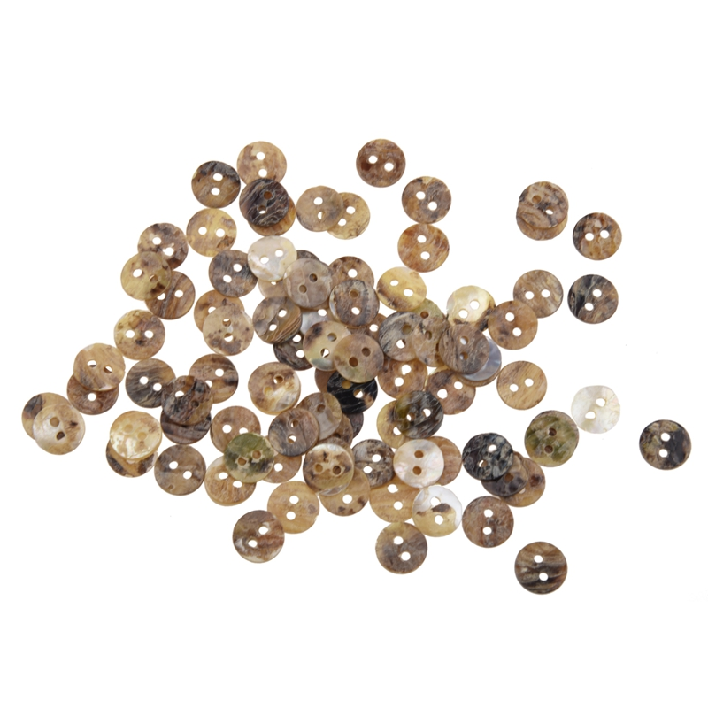 100 x 8 mm Pearl Buttons Mother of Shell Round Heads
