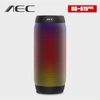 AEC colorful Waterproof LED light Portable Bluetooth 3.0 Speaker BQ 615 Pro Wireless Bass Mini Speaker Support NFC Mic FM