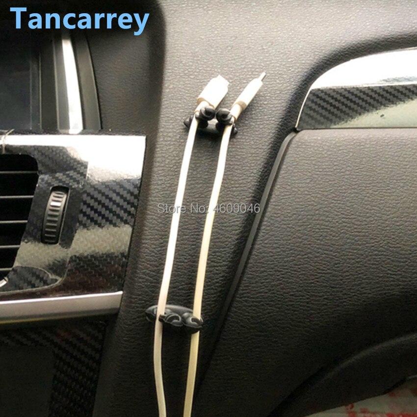 8PCS Car Charger Line Clasp Clamp Accessories For Mazda 323 Kia Picanto Mazda 3 2008 Skoda Rapid Mazda 6 Fiat 500 For Skoda