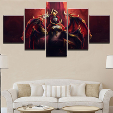 HD Prints Pictures Canvas Home Decor Room 5 Piece Dagger DotA 2 Horns Lina Sexy Woman Warrior Painting Wall Art Game Poster