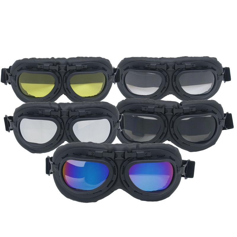 LumiParty Retro Vintage Motorcycle Goggle Motocross Pilot Goggles for Retro Motorcycle vintage pilot goggles r30