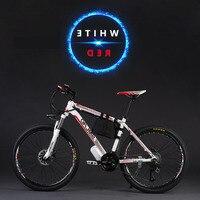Оригинальный 26 Дюймов 48 v 500 w 12a литиевая Батарея горный электрический велосипед Shiman0 27 скоростной электровелосипед горные, фара для электро
