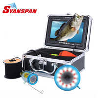 """Original Fish Finder 15/30/50M DVR 1000TVL Underwater Hunting Video Camera for fishing 7""""Monitor 24 Controllable LEDs SYANSPAN"""