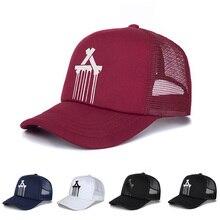 9dc6736646cf8 IWINTER New Fashion Letter A Baseball Cap Unisex Net Surface Space cotton  Hip Hop Hats Summer