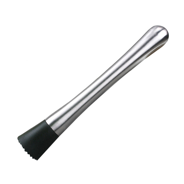 Portable Stainless Steel Muddler with Grooved Base