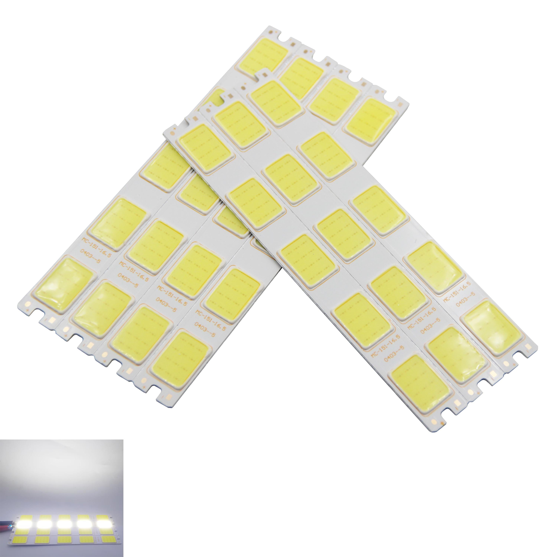 Купить с кэшбэком 10pcs/lot new led cob strip 12v dc long bulb light cold white daytime running light cob led strip source for auto DIY light