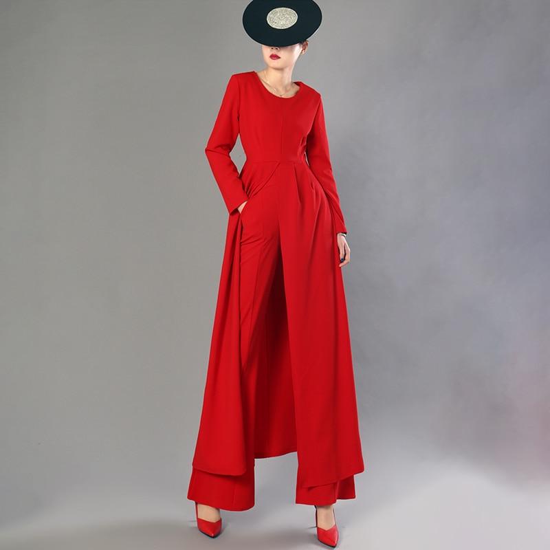 Lanmrem 여성을위한 2 조각 세트 긴 소매 풀오버 롱 탑 + 높은 허리 플레어 바지 2019 봄 패션 새로운 기질 yg688-에서여성 세트부터 여성 의류 의  그룹 3