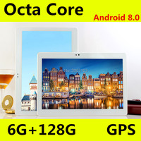 10 inch Tablets 1280*800 For Android8.0 3G 4G Octa Core PC Tablets Support GPS IPS 8MP 6GB+128GB Tablet 9 10 10.1