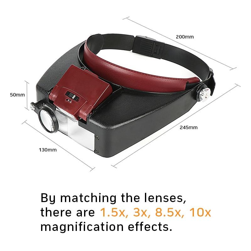 Lente di ingrandimento microscopio a lente di ingrandimento a LED 10X - Strumenti di misura - Fotografia 6