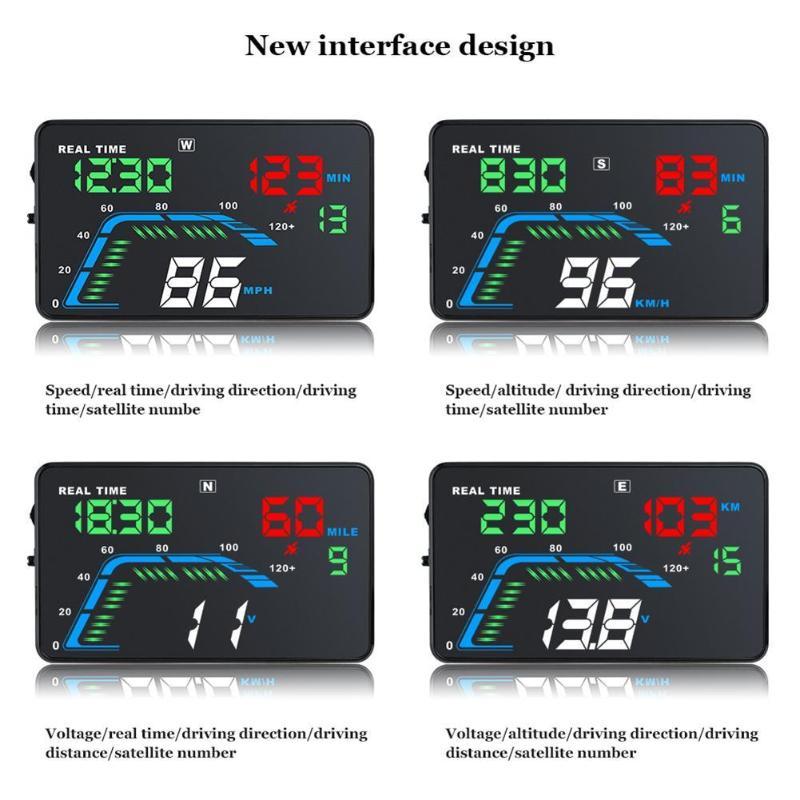 VODOOL Q7 Universal Portable Car HUD 5.5 Inch Car Electronics Accessories Head Up Display KM/H MPH Speedometer Car Display