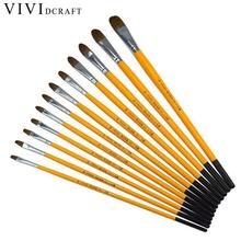 Hot Sale Watercolor Paint Brushes Different Shape Round Pointed Tip Nylon Hair Painting Brush Student Painter Painting Supplies