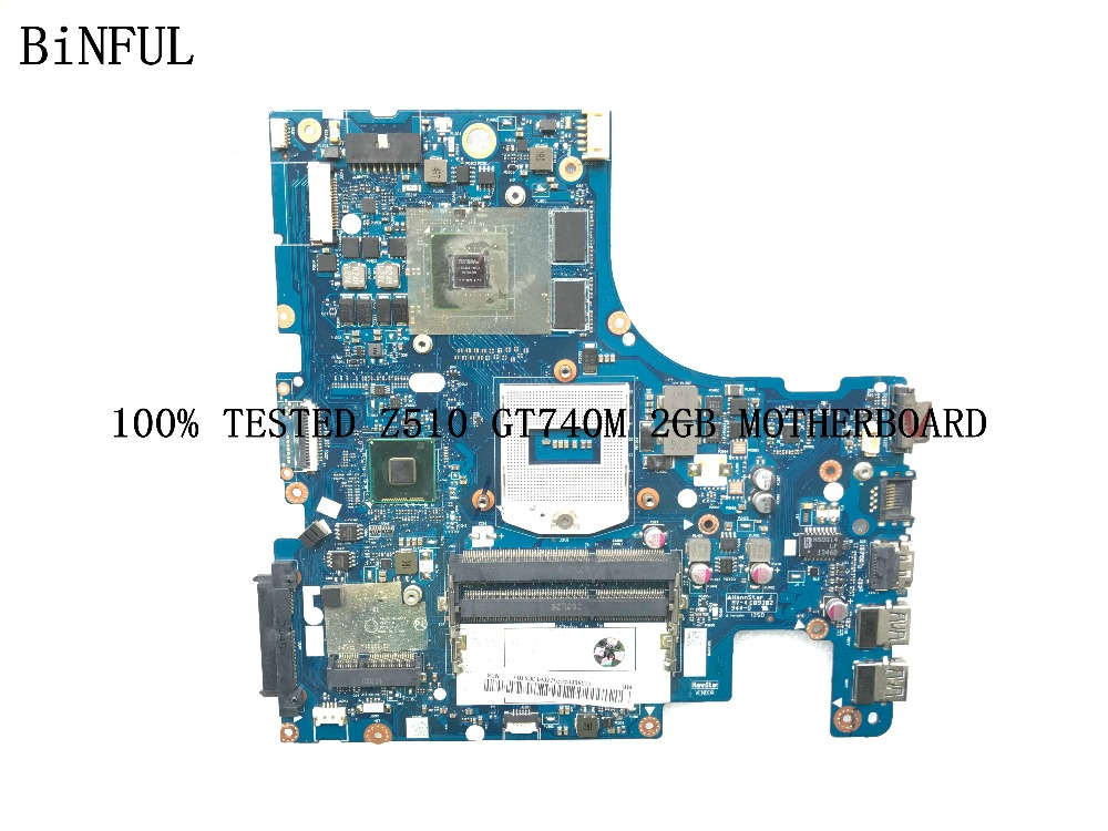 BiNFUL 100 new AVAILABLE PROMISED WORKING MAIN BOARD AILZA NM A181 LAPTOP MOTHERBOARD FOR LENOVO Z510