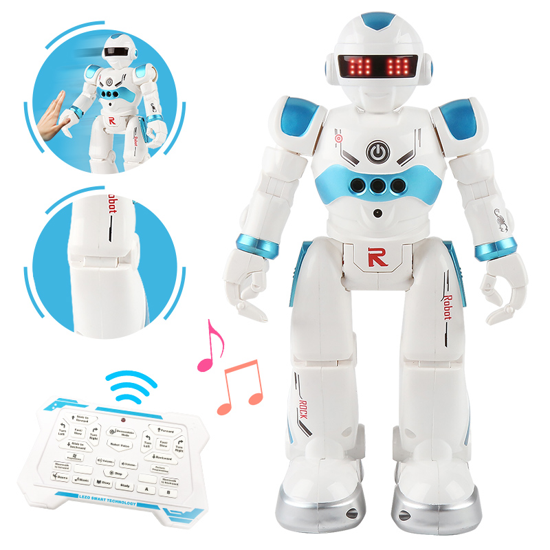 New USB Charging Robot Dancing Singing Story Book Gesture Action Figure Control RC Robot Toy For Boys Children