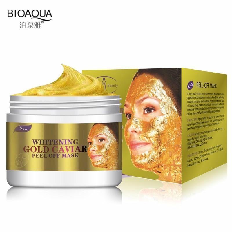 BIOAQUA אופנה פנים פנים מסכת 24 K זהב קולגן לקלף את מסכת פנים עור לחות מיצוק אנטי אייג 'ינג 150 ML