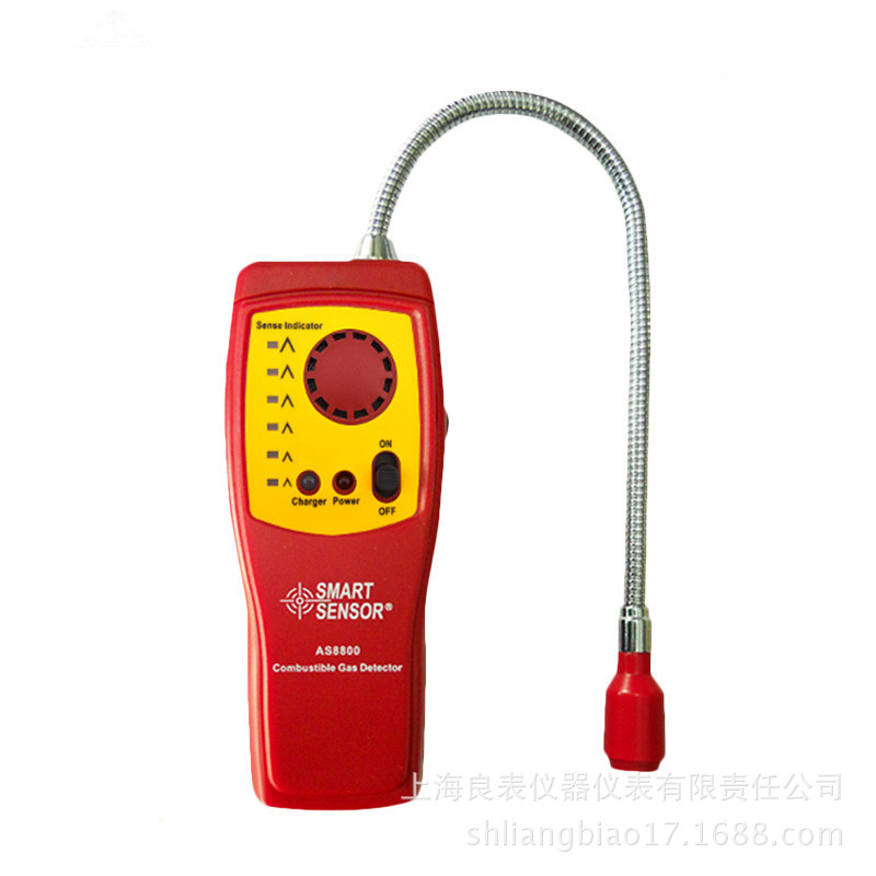AS8800 Flammable Gas Detector High Sensitivity Methane Gas Detection Alarm Fire Equipment Safety Protection