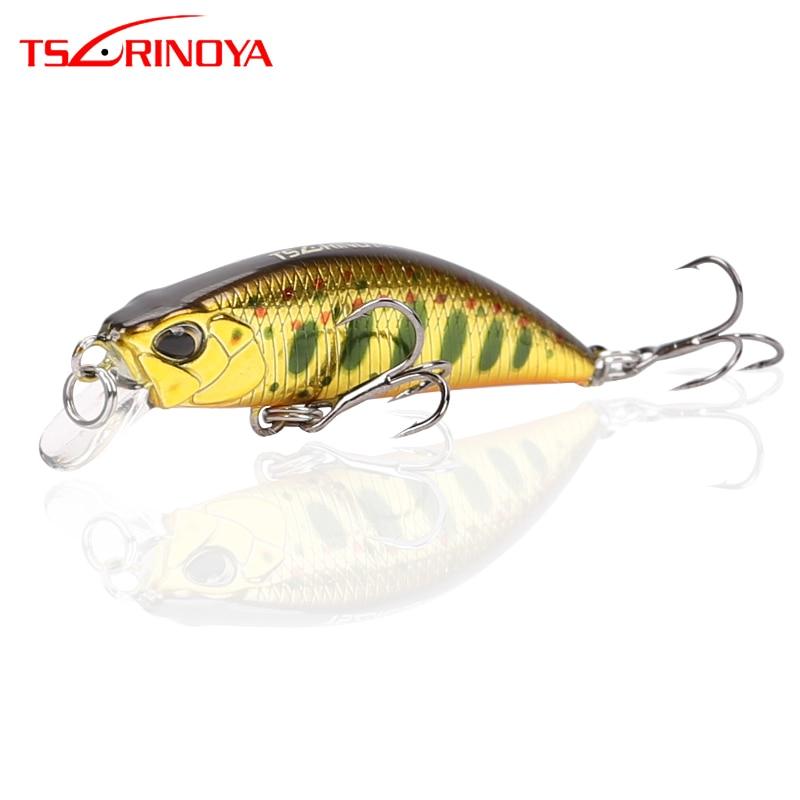 TSURINOYA Fishing Lure DW63 50mm 5g Sinking Water Mini Minnow Hard Lure Artifical Small Crankbait Pencil Wobblers Hard Bait