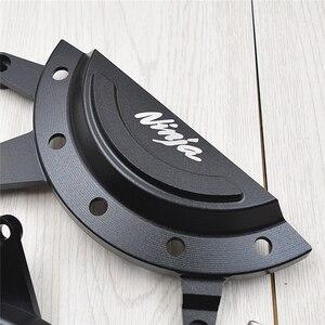 Image 4 - עבור kawasaki Z400 Z 400 NINJA 400 NINJA400 250 אופנוע משמר מפני מנוע מגן כיסוי Fairing משמר התרסקות מחווני Pad