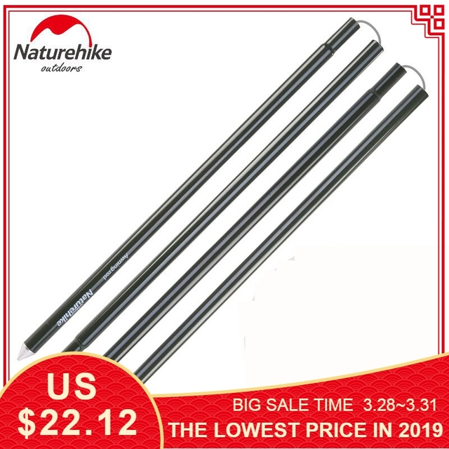 Naturehike tarp poles Thicken Outdoor Camping tent pole Aluminum tent Accessories Awning rod camping equipment 2pcs/pair 2M