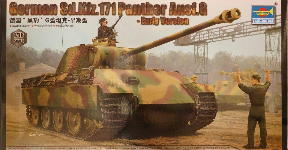G Early version model kit Trumpeter 1//16 00928 German Sd.Kfz.171 Panther Ausf