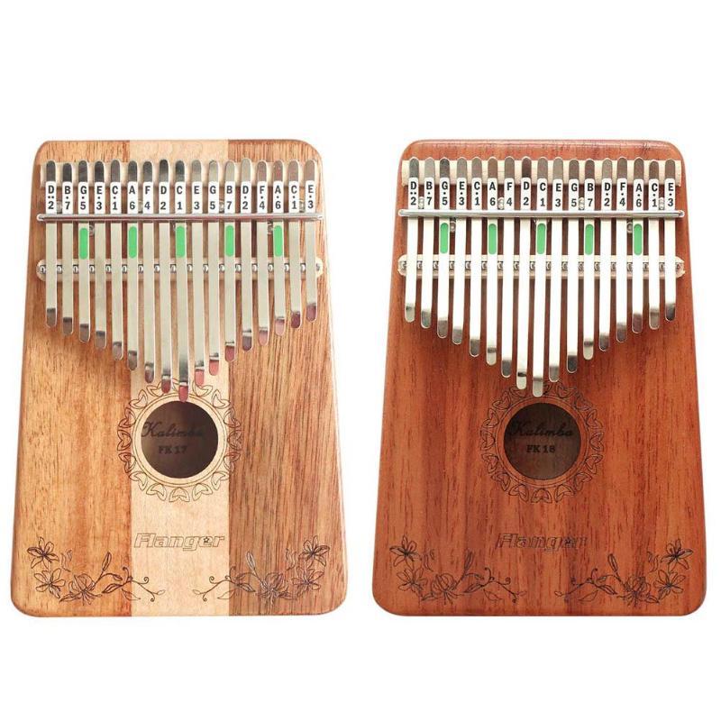 Leal Instrumentos De Música De Madera Con Teclado De Percusión De Dedos De Caoba De Piano Africano De 17 Teclas Kalimba