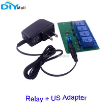 ESP32 4 Channel Relay Module WiFi Bluetooth + US Plug Adapter DC 6V 600mA  for Android IOS Phone APP Remote Control все цены