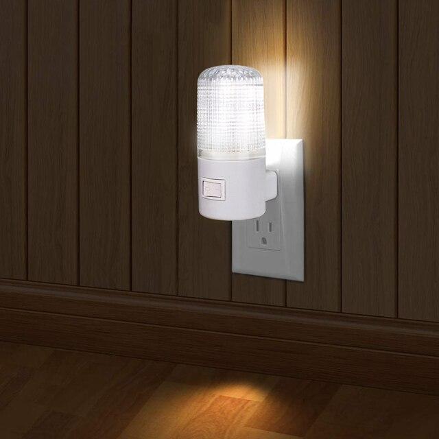 Led night light luz de emergência lâmpada de parede casa iluminação ue/eua plug lâmpada de cabeceira montado na parede 3 w energia eficiente lâmpada de poupança