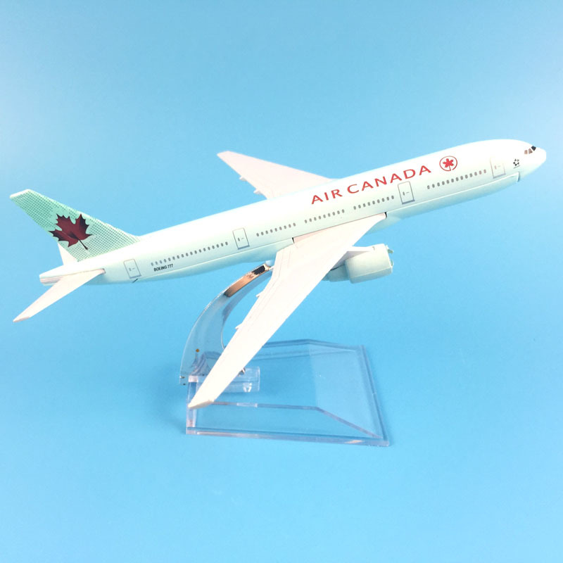 16cm Plane Airplane Model Air Canada Boeing 777 Aircraft Model Diecast Metal Airplanes Model 1:400 Plane Toy Gift Free Shipping