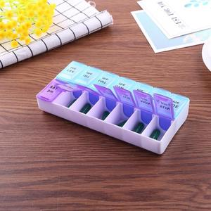 Image 2 - 14/7 izgaralar 7 gün haftalık hap durumda ilaç Tablet dağıtıcı organizatör hap kutusu bölücüler hap depolama organizatör konteyner