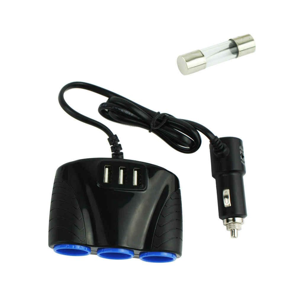 12V-24V Car Cigarette Lighter Socket Splitter Adapter Multiple Ports USB Car Charger Cigarette Lighter Splitter For Car