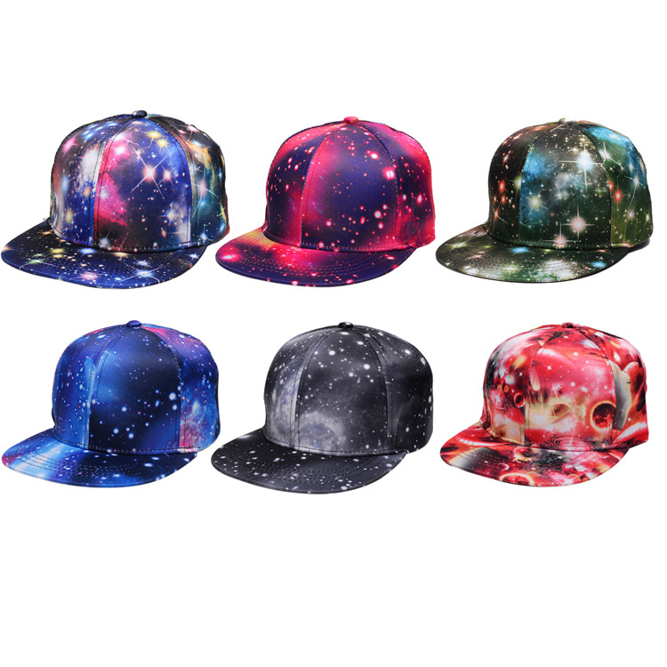 2019 Summer Duckbill Hat Hip-hop Starry Galaxy Baseball Cap Outdoor College Style Hat