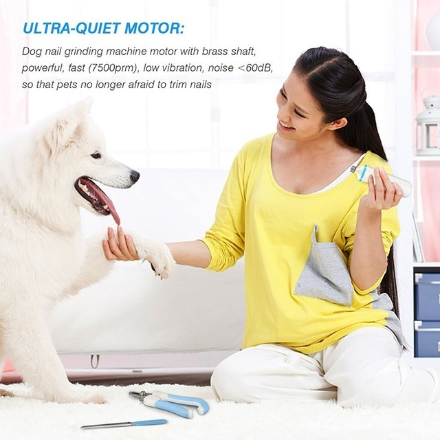 Benepaw Ultra-quiet Electric Pet Dog Nail Grinder Set Safe Dog Nail Clippers Cutter File Grooming Pedicure USB Rechargeable 2019