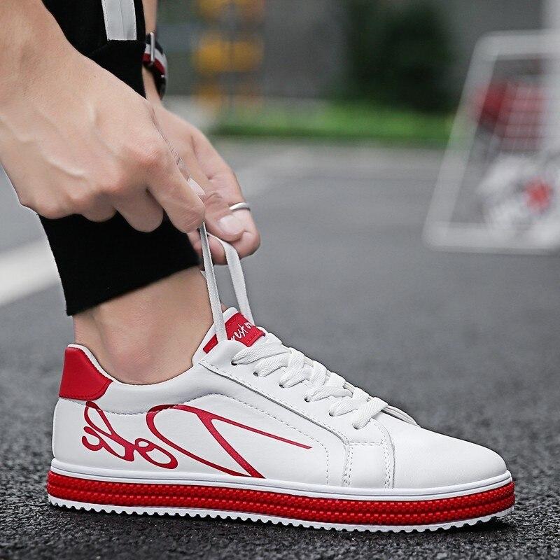 Casuales Cómodos Deporte De Encaje Ligero Adulto Hombre Zapatos Nuevo blanco Zapatillas Los Hombres rojo Negro El Barato Moda 2019 8tq1x
