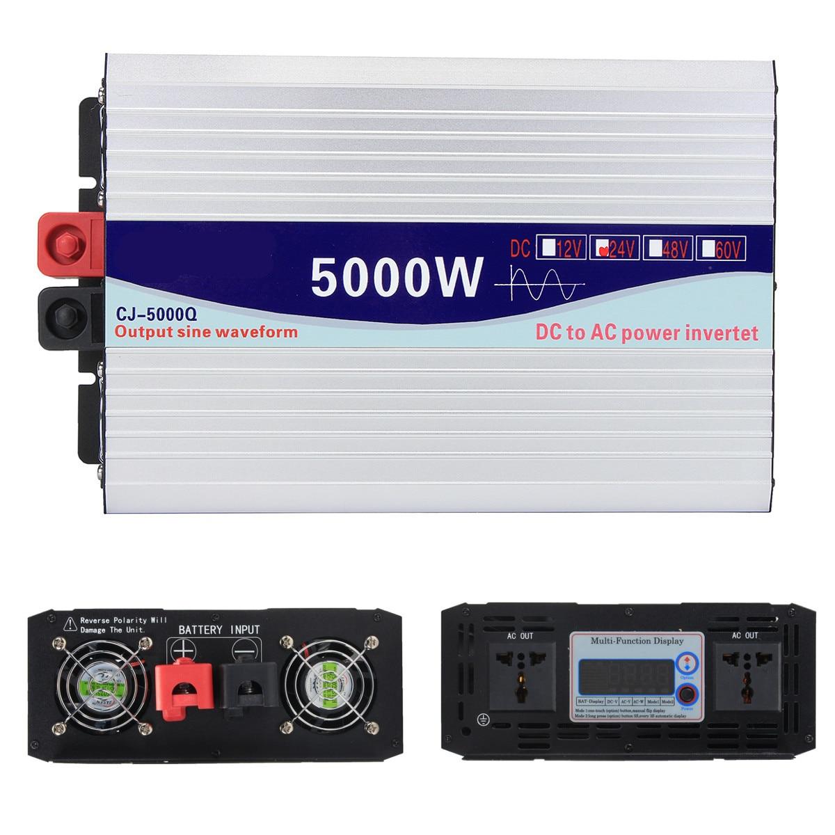 Écran Intelligent pur onduleur à onde sinusoïdale 12 V/24 V à 220 V 3000 W/4000 W/5000 W/6000 W convertisseur écran LCD - 4