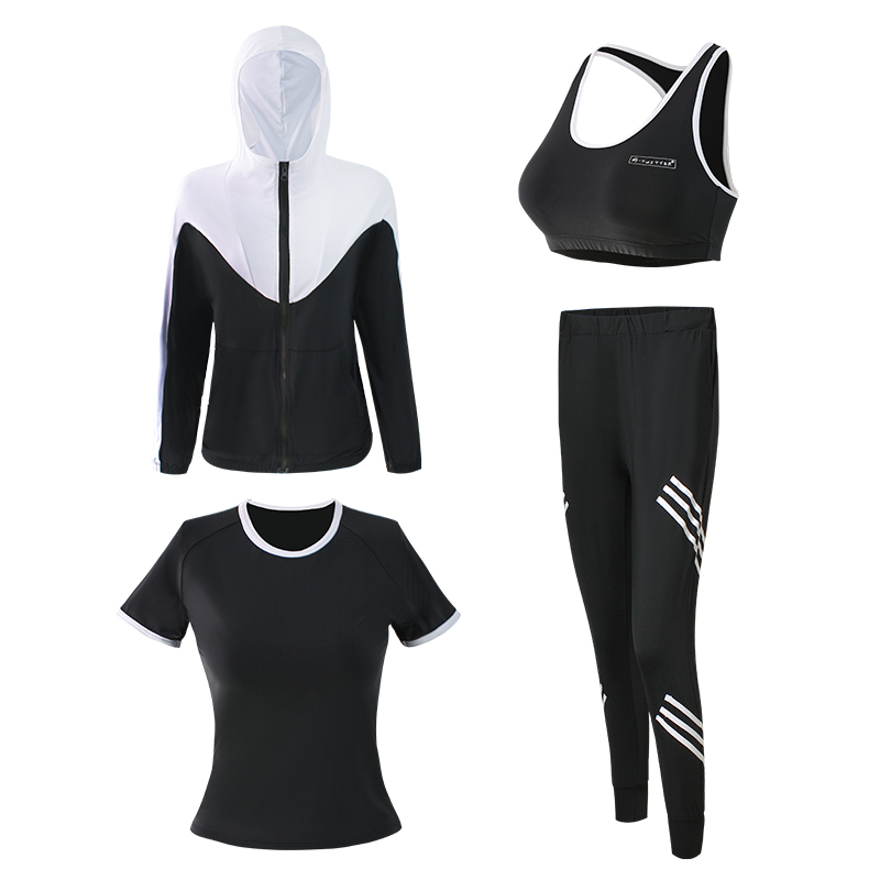 Health Clothes Sportswear Girls Yoga Set Girls Breast Pad Tracksuits Girls Set Fitness center Clothes Girls's Sports activities Go well with Three Items Yoga Units, Low-cost Yoga Units, Health...