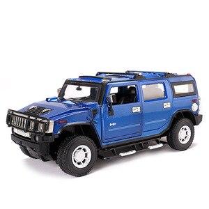 Image 1 - 2019 1:24 Hummer H2 Legering Model Diecast Metalen Auto Speelgoed Voor Kinderen Brinquedos Juguetes Oyuncak Dropshipping Hotwheelsing