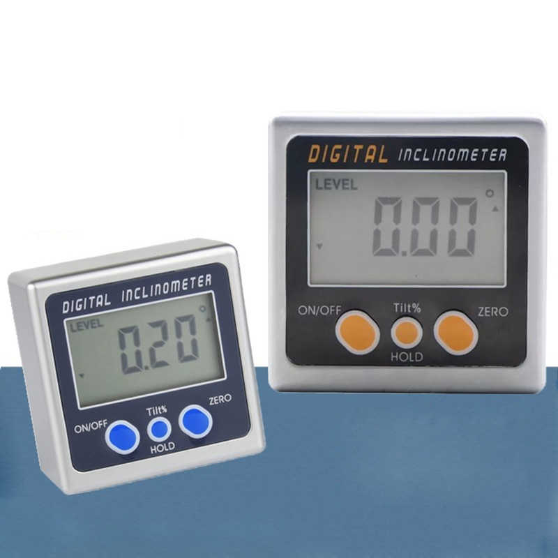 Electron Goniometers Electronic Protractor Digital Inclinometer Level Box Magnetic Level Measuring Tool Angle Meter 4 x 90