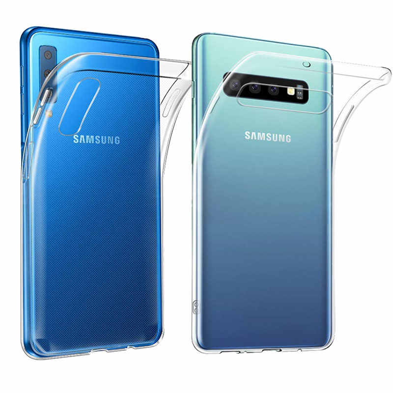 For Samsung Galaxy A7 2018 Case Ultra-thin Transparent TPU Silicone For Samsung A50 A20 A40 A30 A70 S10 Plus S10E 5G Phone Case