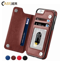 CASEIER Multi Card Holder Cases For iPhone X XS MAX 8 7 PU Leather Max XR 6 6s Fundas Capinhas Phone