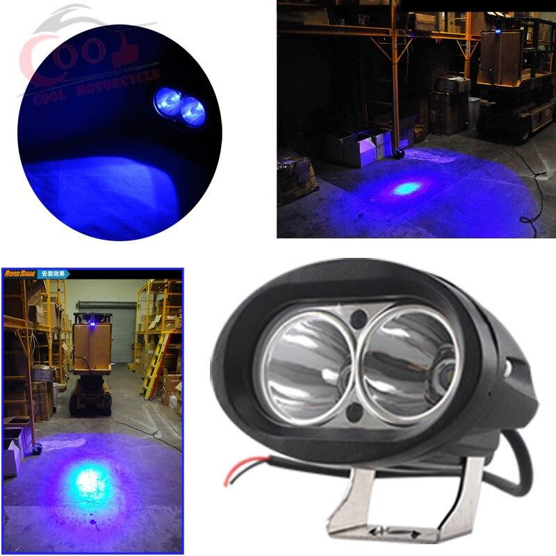 High Quality Blue Forklift LED Light Warehouse Safety Warning Lamp Spot Offroad 12v