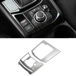 Image 2 - Per Mazda CX 5 CX 5 2017 2018 In Acciaio Inox Car Gear Shift Freno A Mano Elettronico del Pannello di Copertura SOLO CON GUIDA A SINISTRA