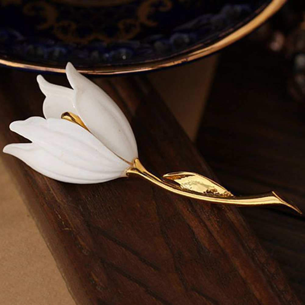 Gorgeous Tulip Flower Brooches Fashion Accessories Birthday Party Gift for Girl Plant Brooches Party Clothes Jewelry Accessories in Brooches from Jewelry Accessories