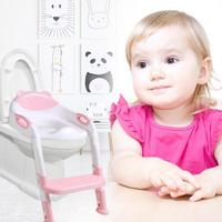 Portable Kids Infant Toilet Folding Potty Chair Training Baby Potty Seat With Ladder Children Toilet Seat