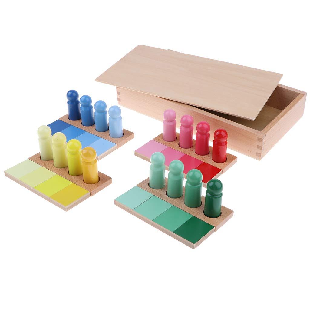 Montessori sensoriel matériel éducatif en bois couleur cylindres correspondant jeu jouets d'apprentissage précoce cadeau pour bébé enfants enfants