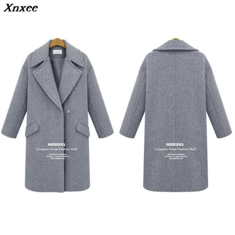Autumn Winter Suit Blazer Women 2019 Formal Wool Blends Jacket Coat Office Work Casual Plus Size Long Sleeve Blazer Ukraine 3XL